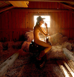 Charming naked girls cowgirls baring..